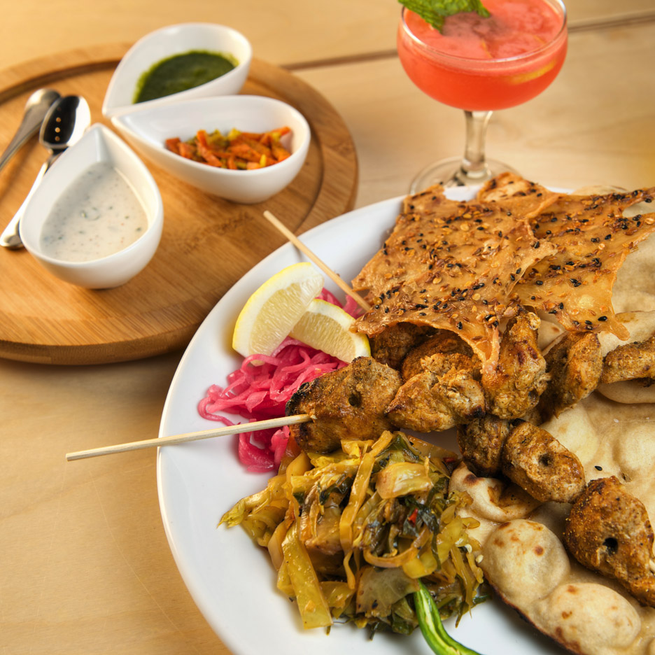 Tandoor spiced roasted young chicken
