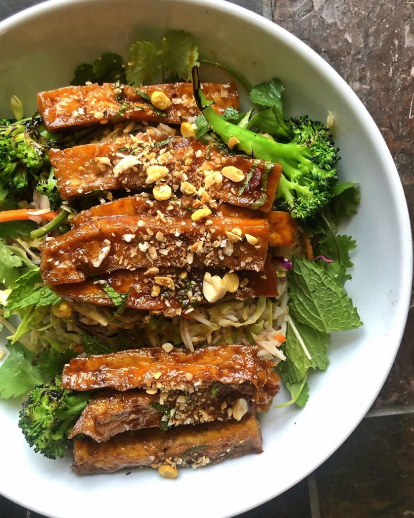 Braised Sesame Tofu Salad